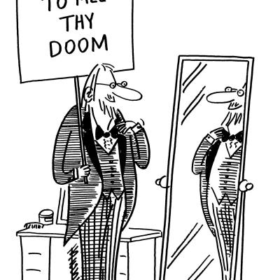 London Cartoonists Apocalypse Dress Code Cartoon