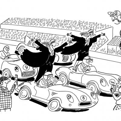 London Cartoonists Goodwood Festival Cartoon