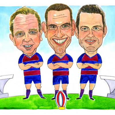 London Cartoonists Team Players Caricature