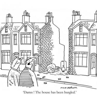 London Cartoonists, House Burglary Cartoon