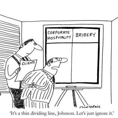 London Cartoonists, Corporate Hospitality Cartoon