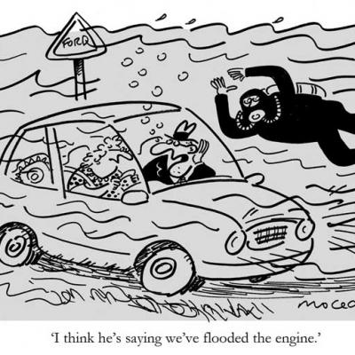 London Cartoonists, Flooded Engine Cartoon