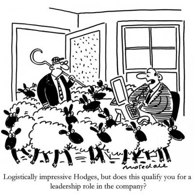 London Cartoonists Leadership Quality Cartoon