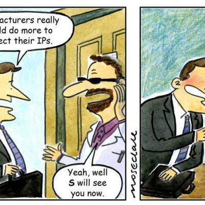 London Cartoonists Cartoon Strip IP Espionage