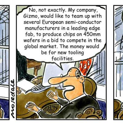 London Cartoonists Business Bank Cartoon Strip