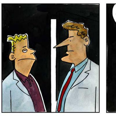 London Cartoonists Doctor Cartoon Strip