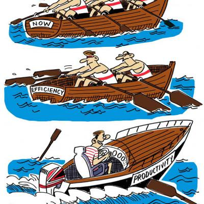 London Cartoonists Rowing Cartoon Strip
