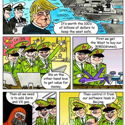 London Cartoonists Trump Political Cartoon Strip